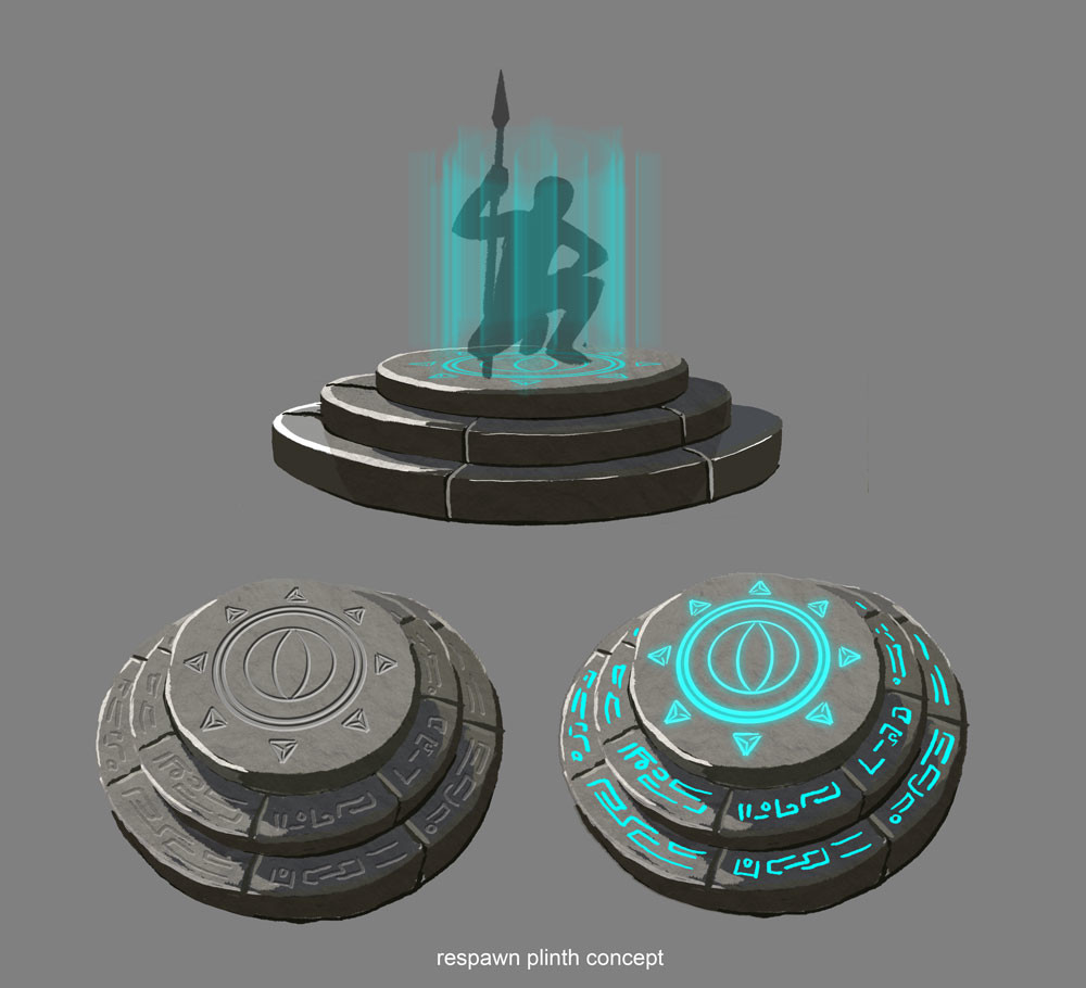 early concept paint of respawn point.