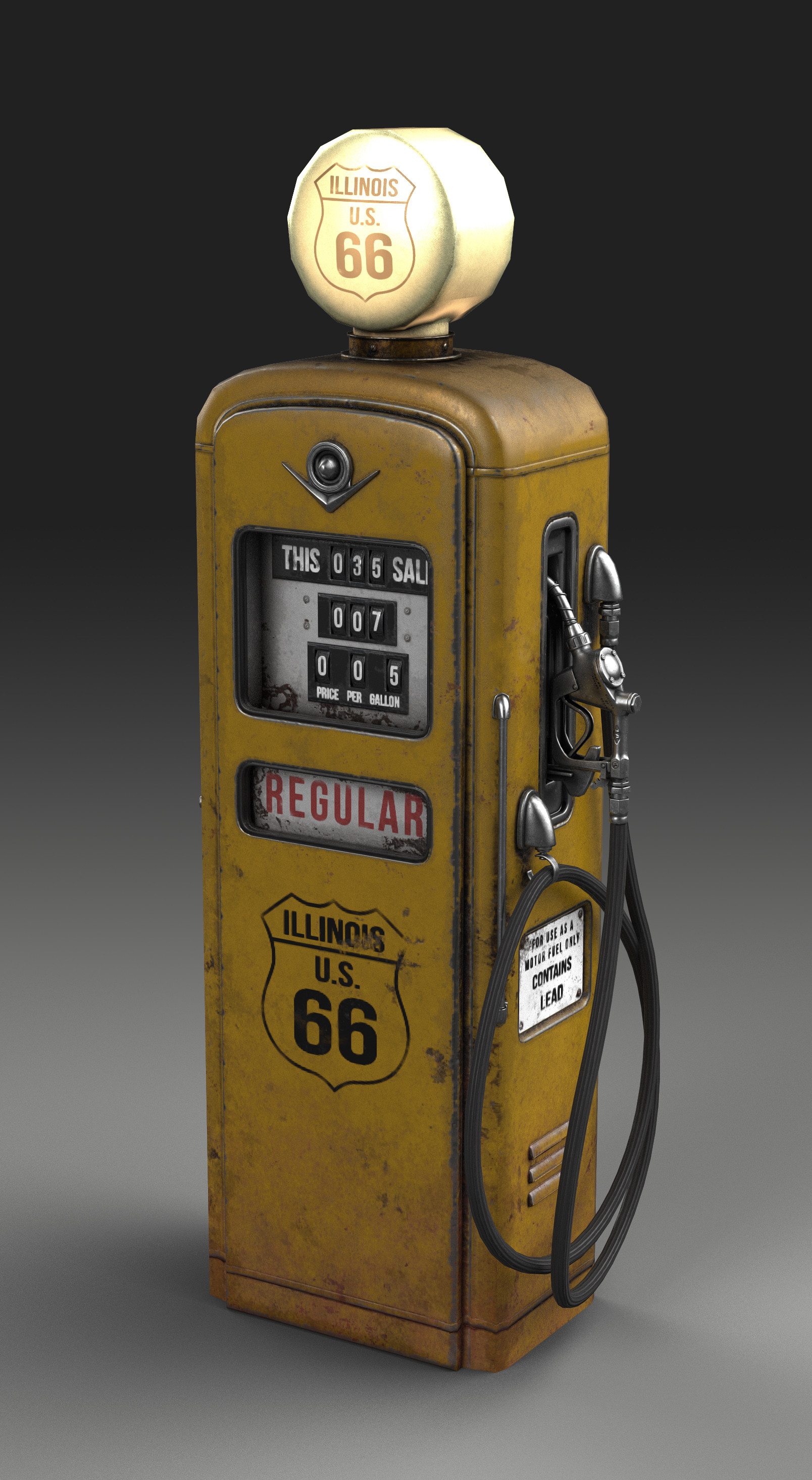 ArtStation - Old gas pump, Pavel Bogdanov