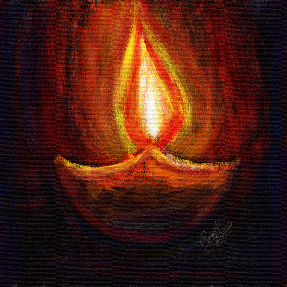 Digital Artwork for Diwali Celebration...:) Happy Diwali :)