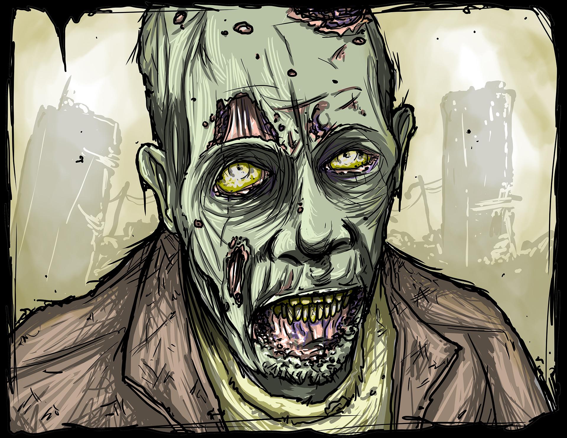 Mike johnston ruinedworld zombieportrait movie