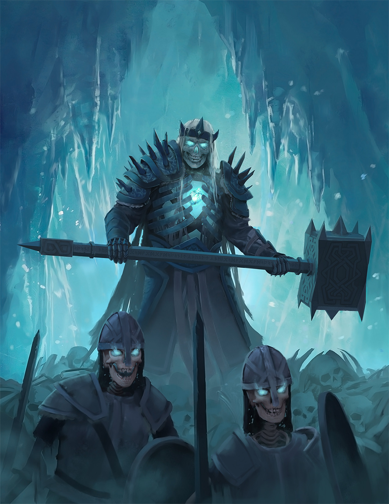 Artstation Oath Of The Frozen King Book Cover Jon Pintar