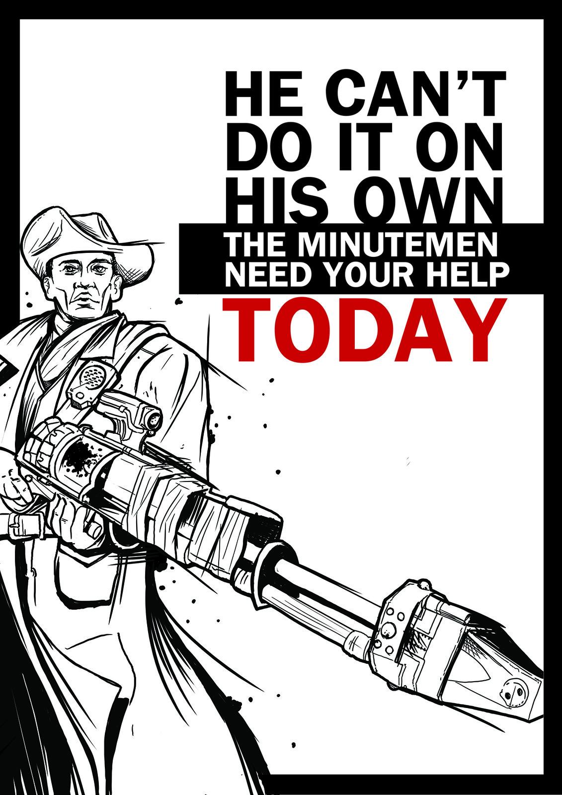 Minutemen propaganda poster - Fallout 4