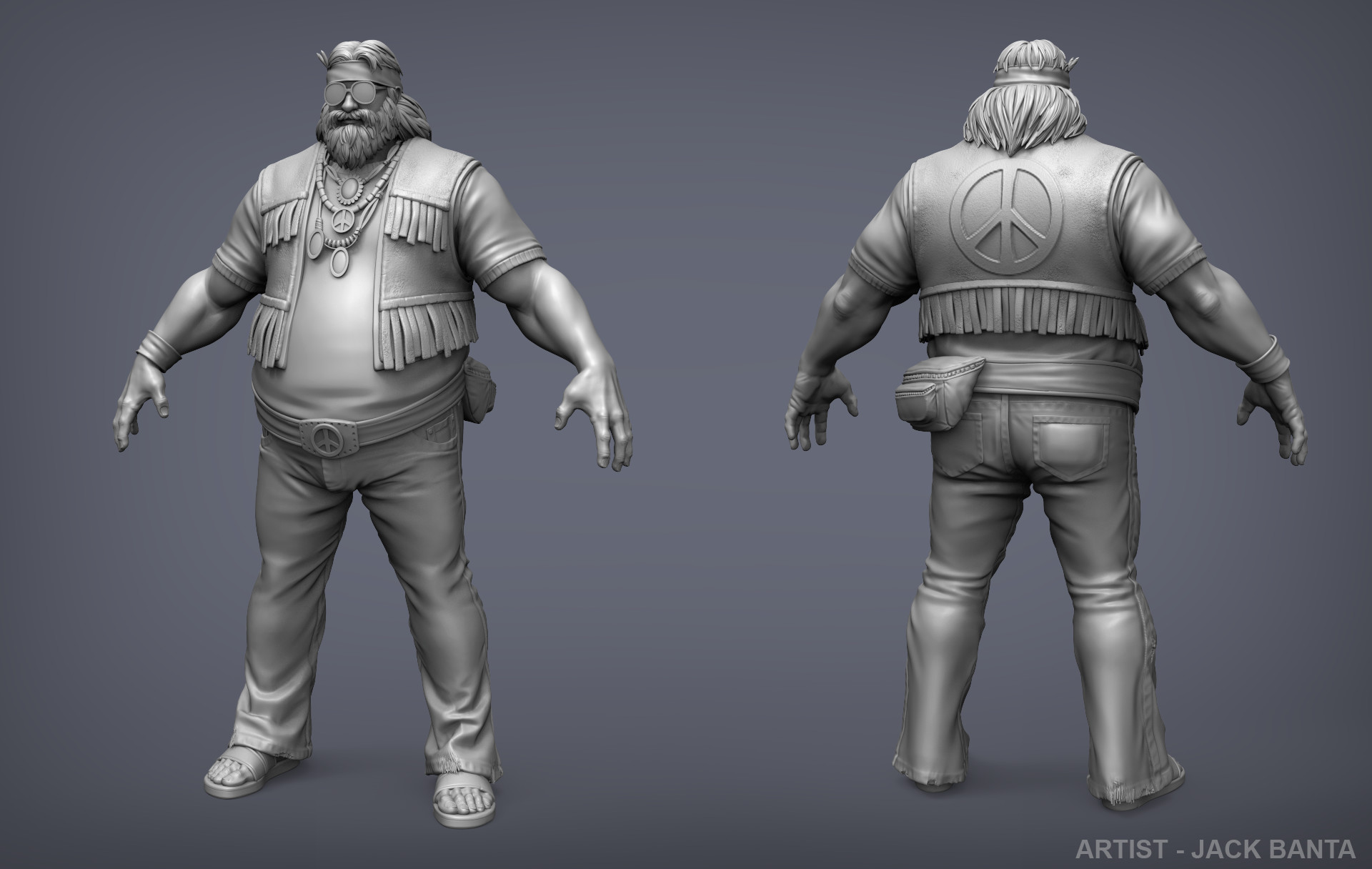 Jack banta bacchus high poly