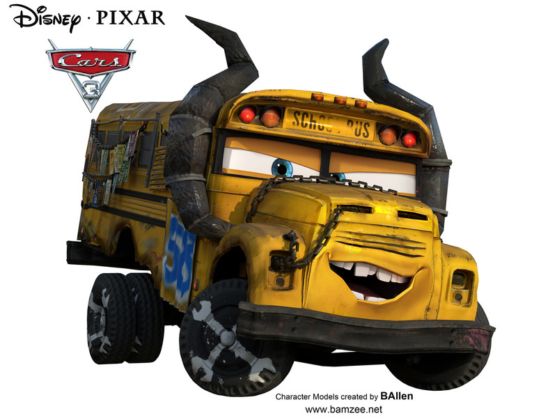Disney Cars  Mcqueen And Miss Fritter