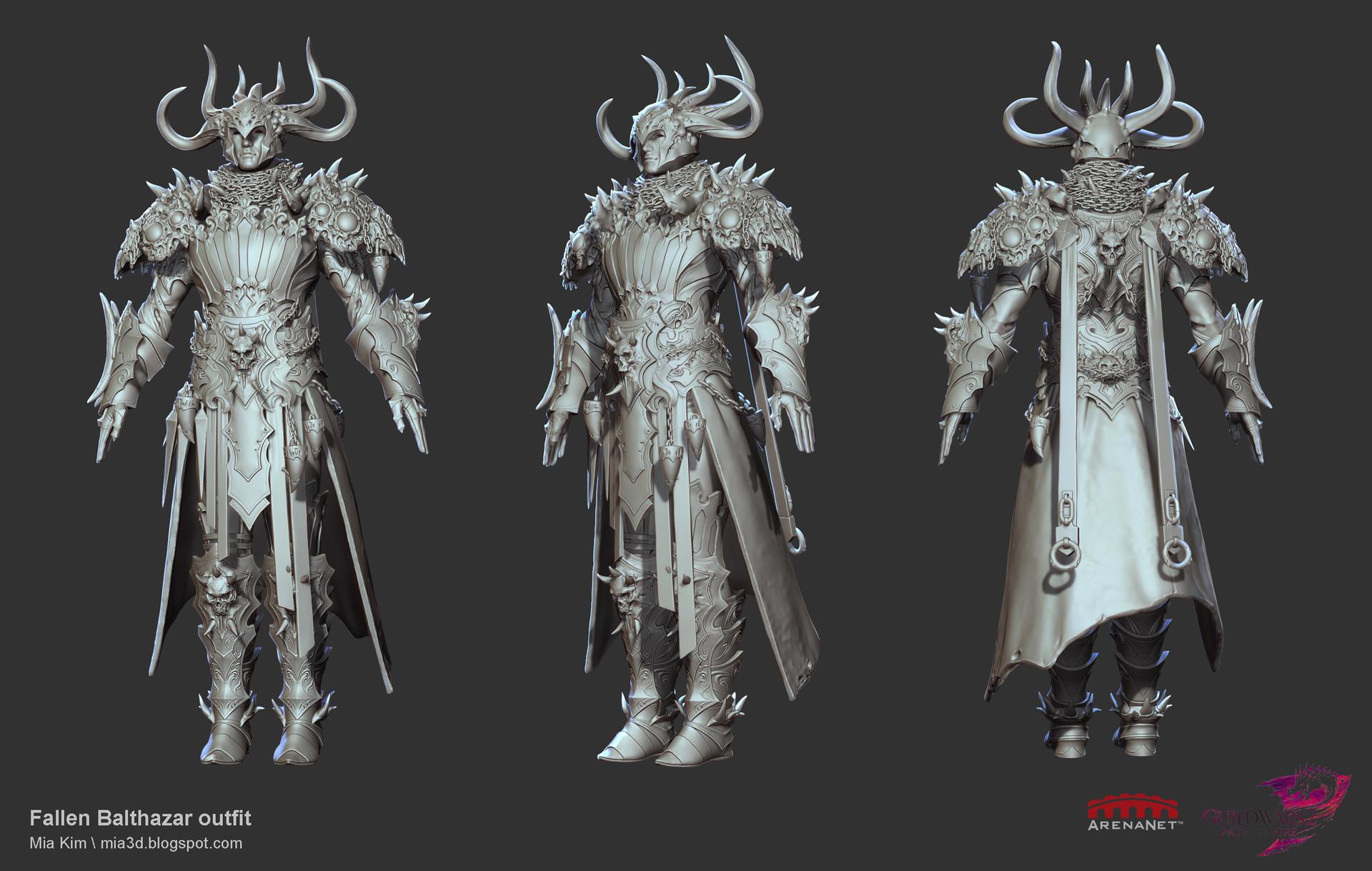 ArtStation - Guild Wars 2 : Fallen Balthazar Outfit, Mia Kim