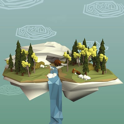 Coleen miclo lowpoly island