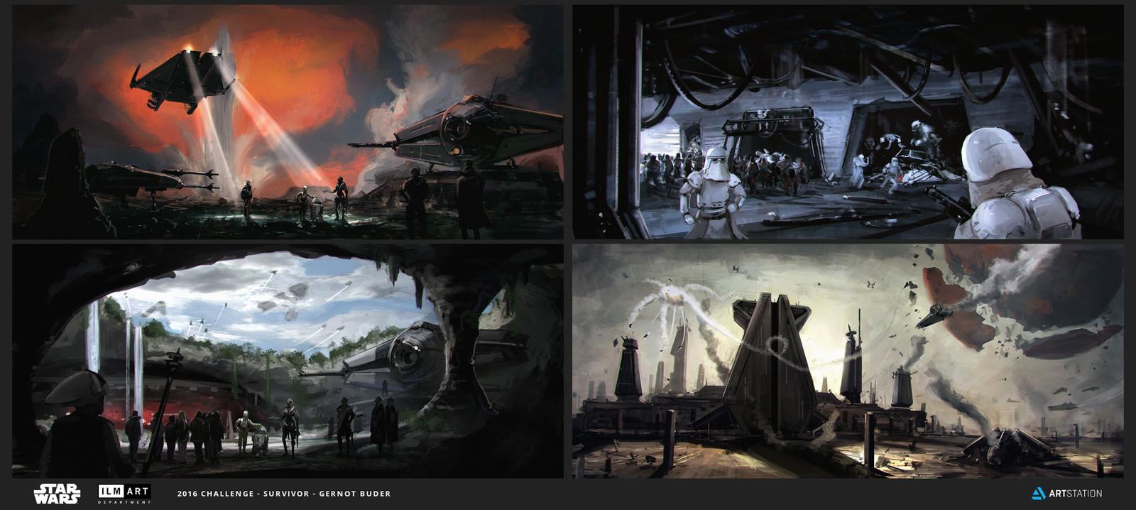 ILM Art Department Challenge (multiple images)