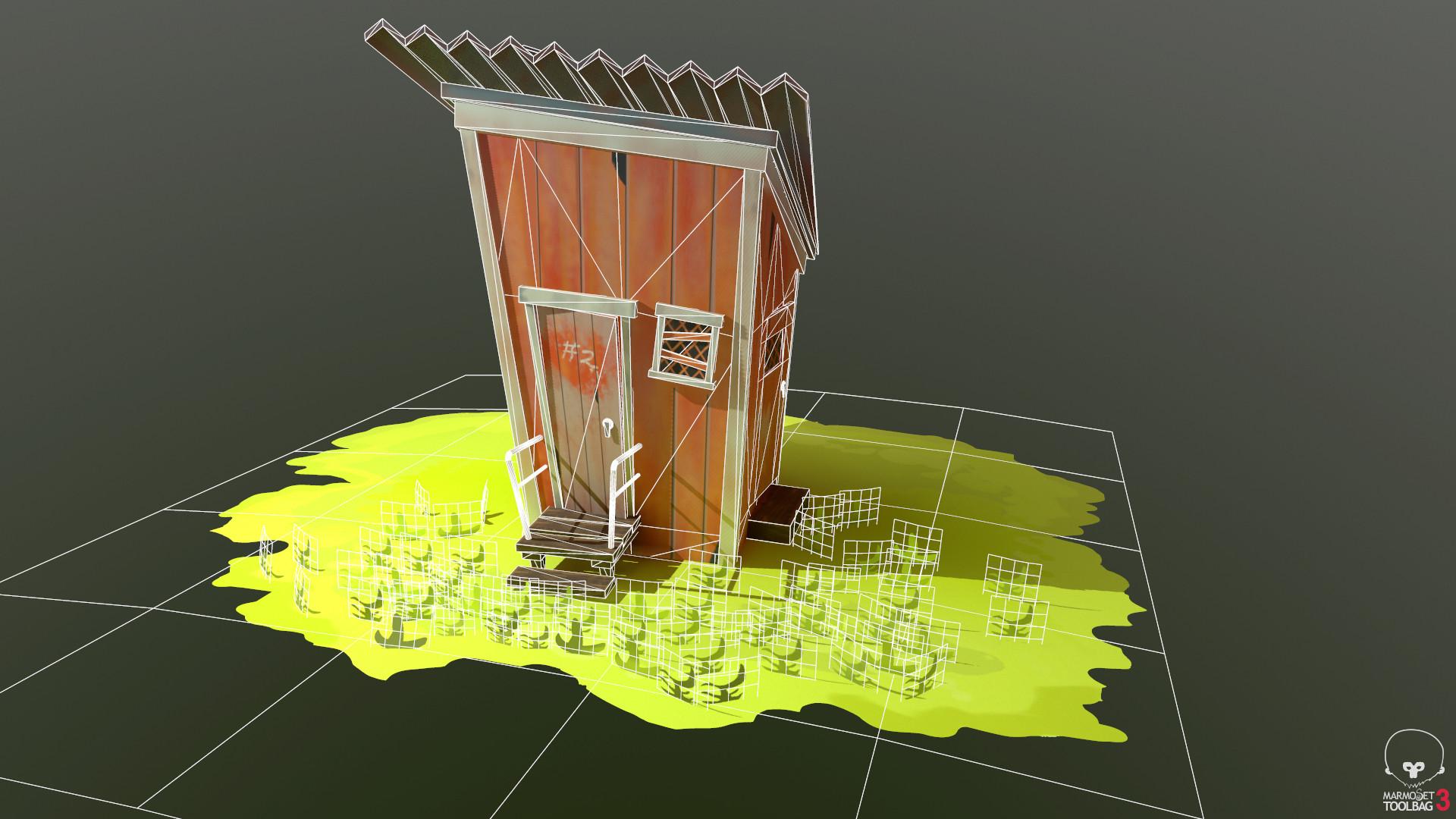 ArtStation - Stylized Hut(low Poly), Yomi Dipo-Ayeni