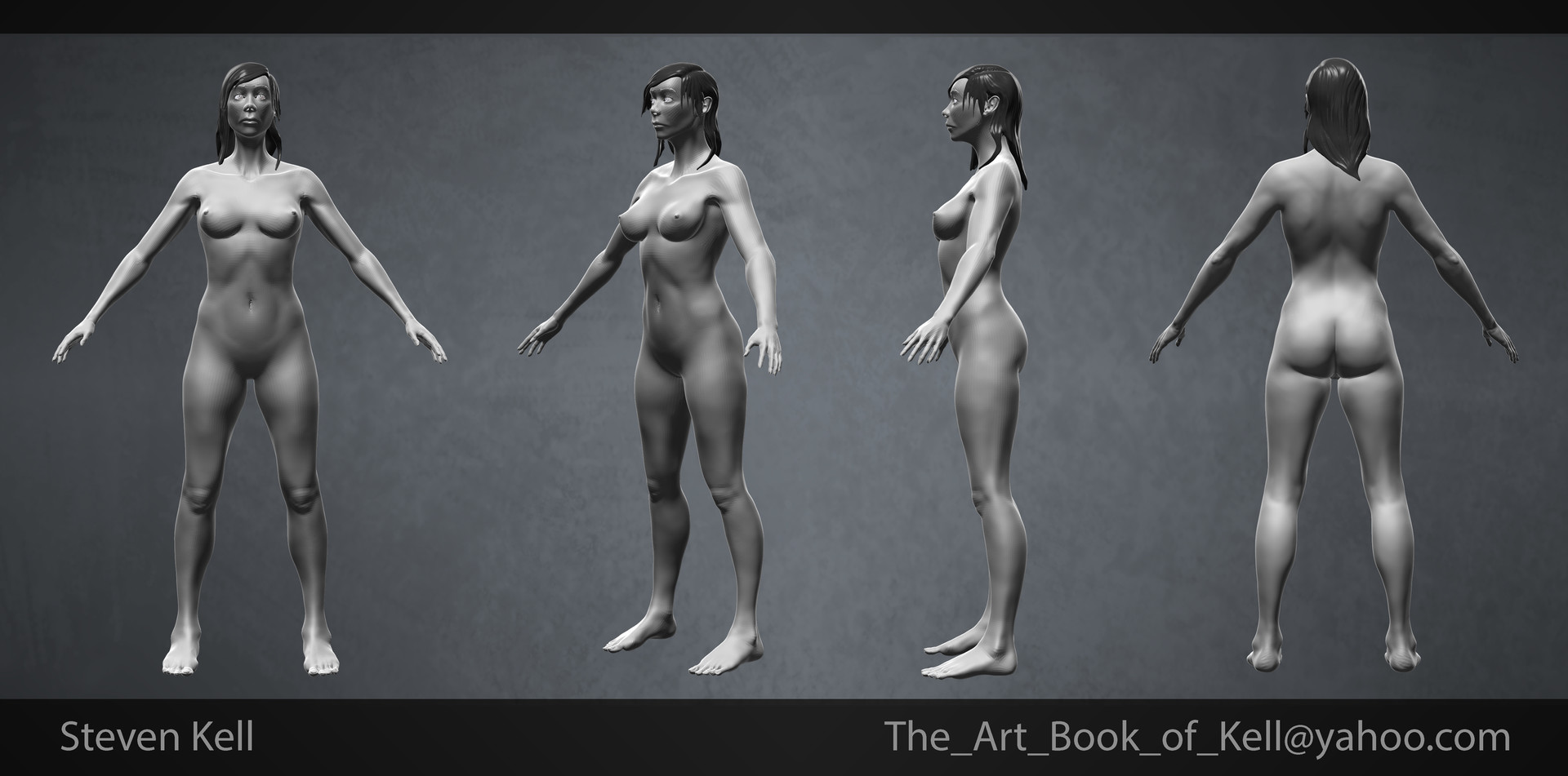 Steven Kell - Female Anatomy Sculpt