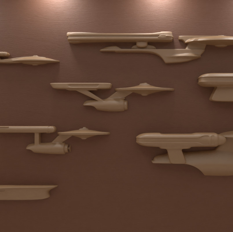 Enterprise History Wall Sculptures