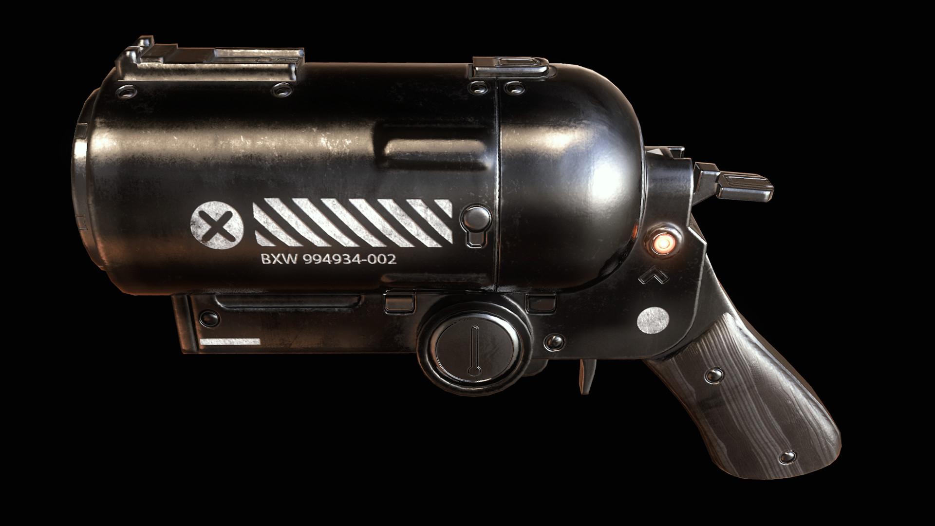 Sergey tyapkin scifi pistol 2