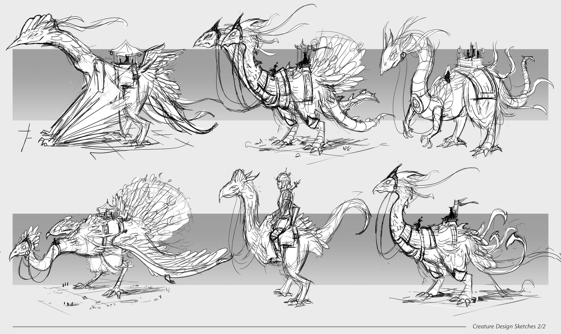 Dennis van kessel creature sketches 2