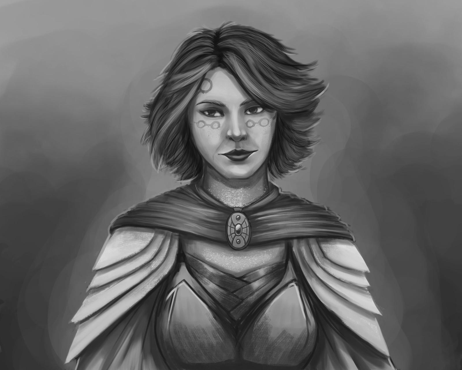 D&D character portrait - Toene Numen