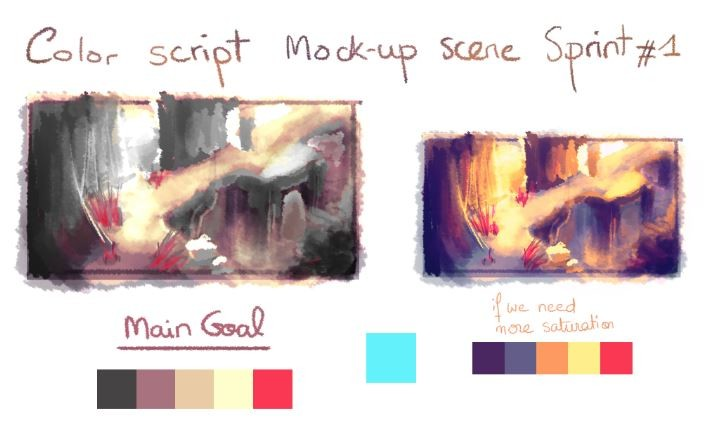 Color researches for the overall mood of the game environments