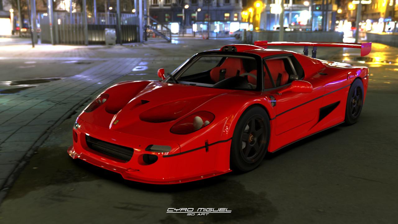 ArtStation - Test Render - Ferrari F50 GT 5e29bf1153d6