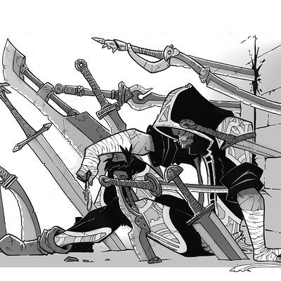 Luis montes inktober sword grey