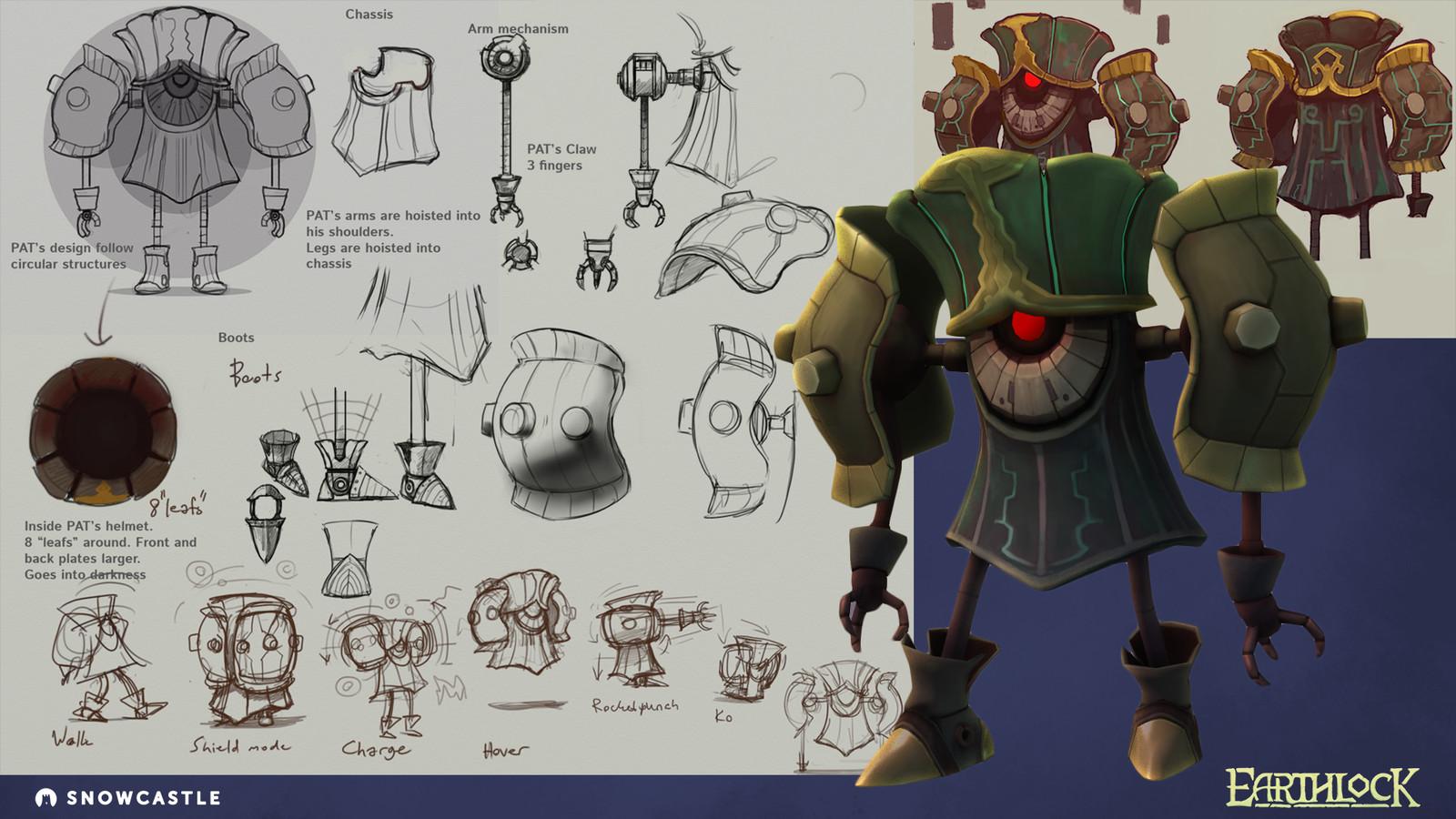 The original PAT design and sketches.