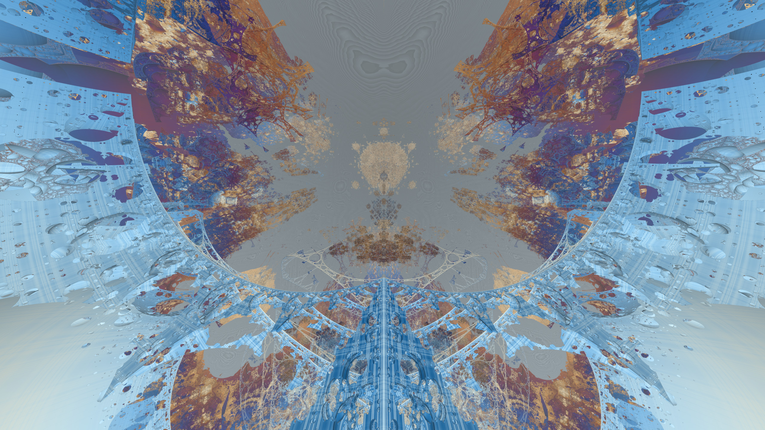 Negative scale Mandelbox: Looking out