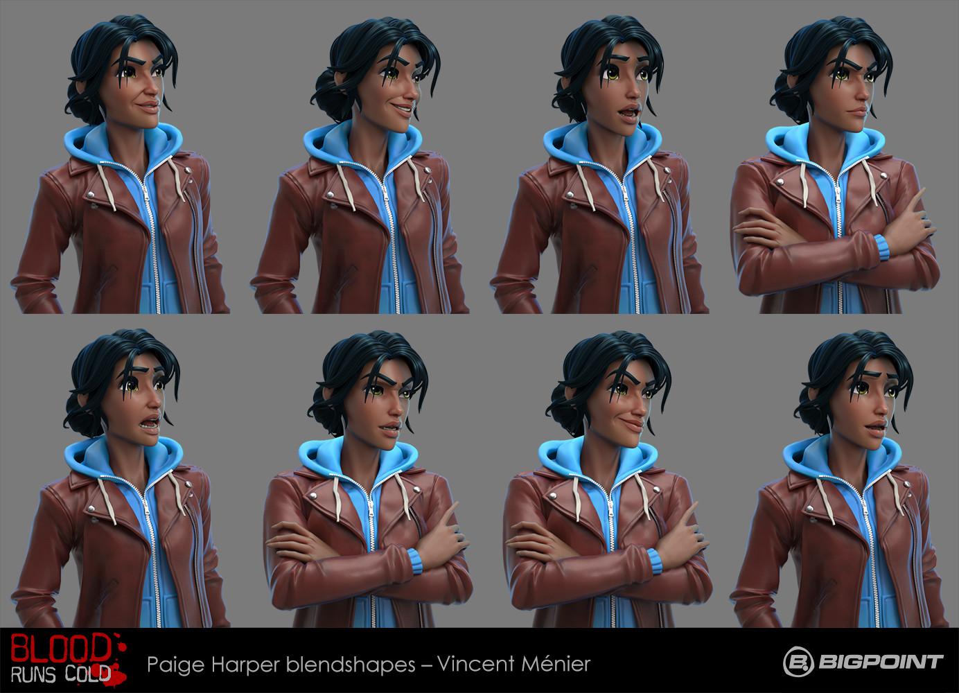 Vincent menier brc paige blendshapes by vincent menier s