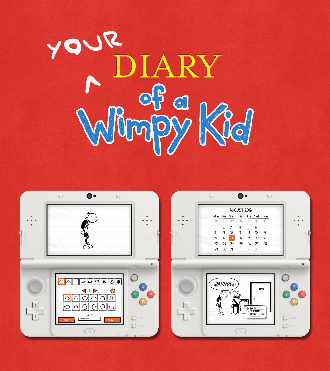 Diary of a Wimpy Kid UI & Gameplay Mockup