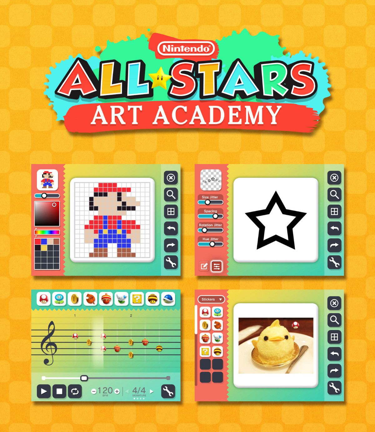 Nintendo All Stars Academy Gameplay & UI Mockup