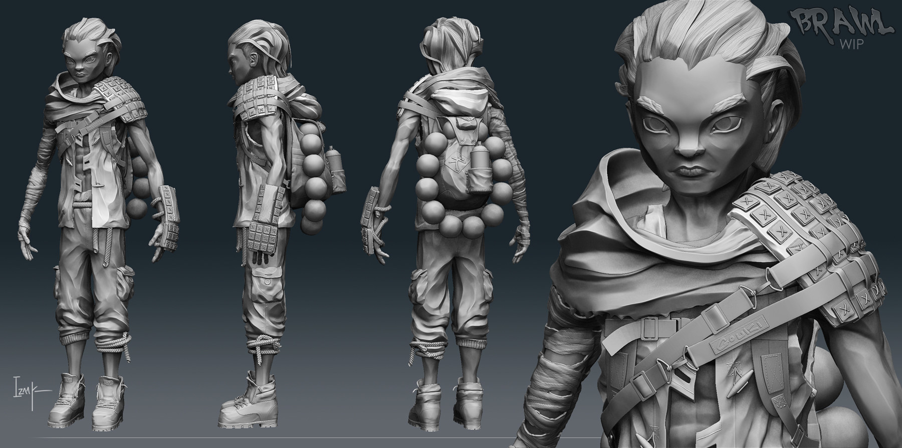 Izaak moody ka high poly