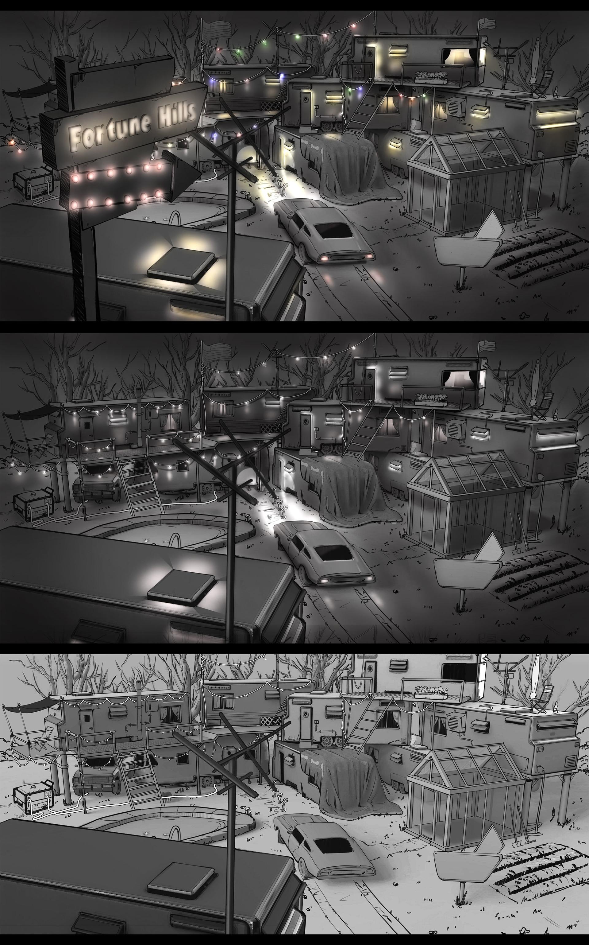Timo peter a13 trailerpark lighting kontrast