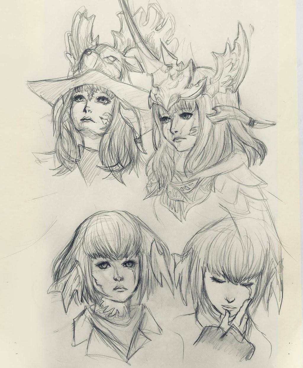 FFXIV sketches