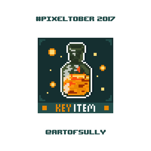 #pixeltober - Day 23 - 'Estus Flask (Dark Souls)'