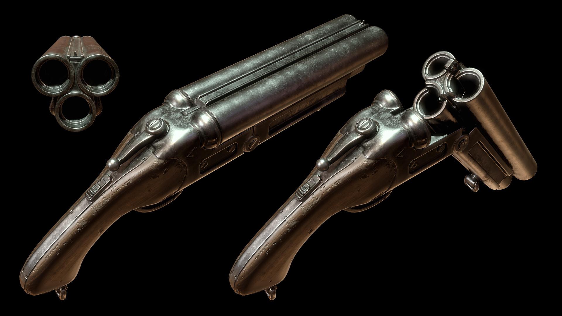 Sergey tyapkin shotgun render 1 2
