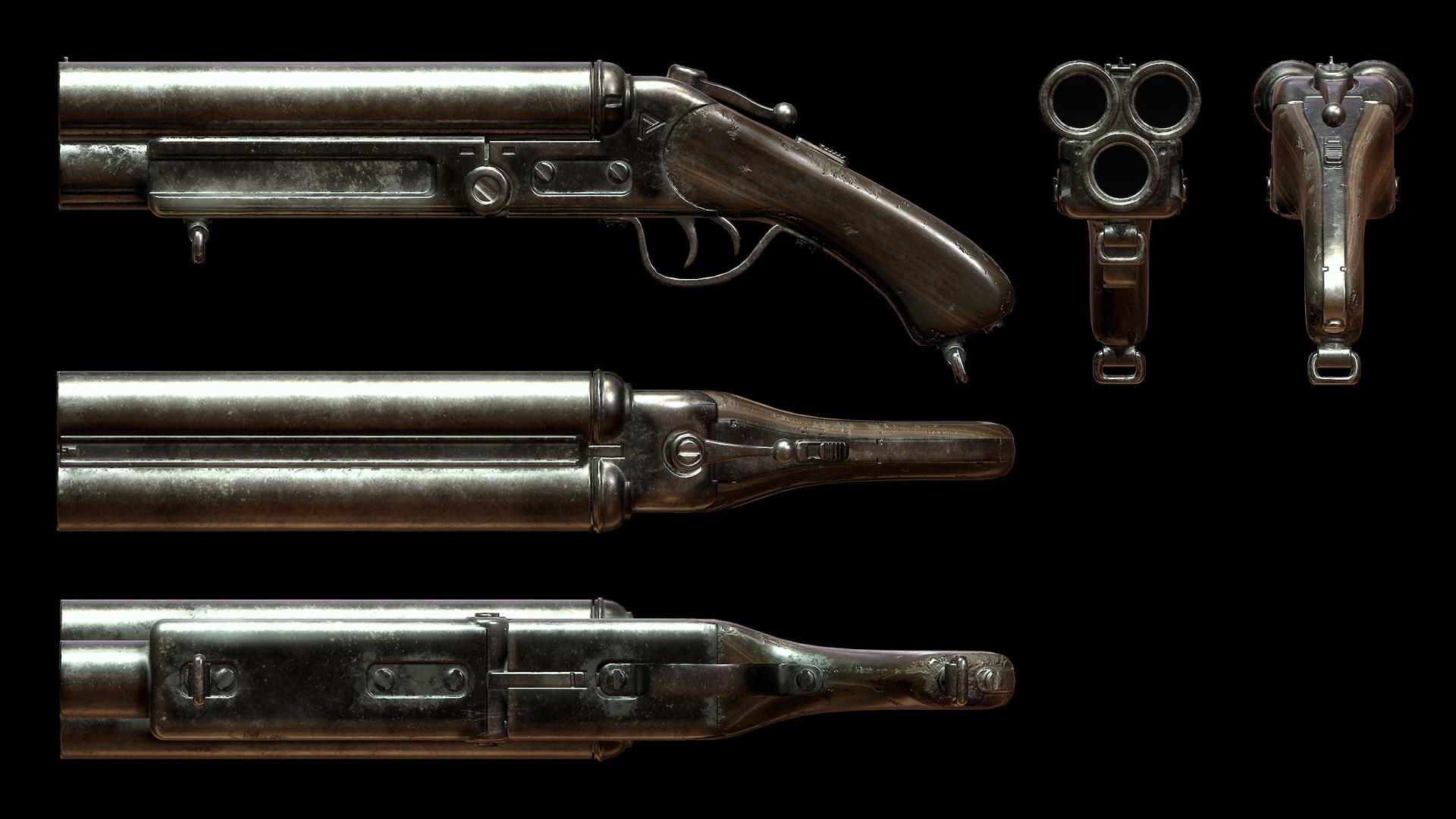 Sergey tyapkin shotgun render 2