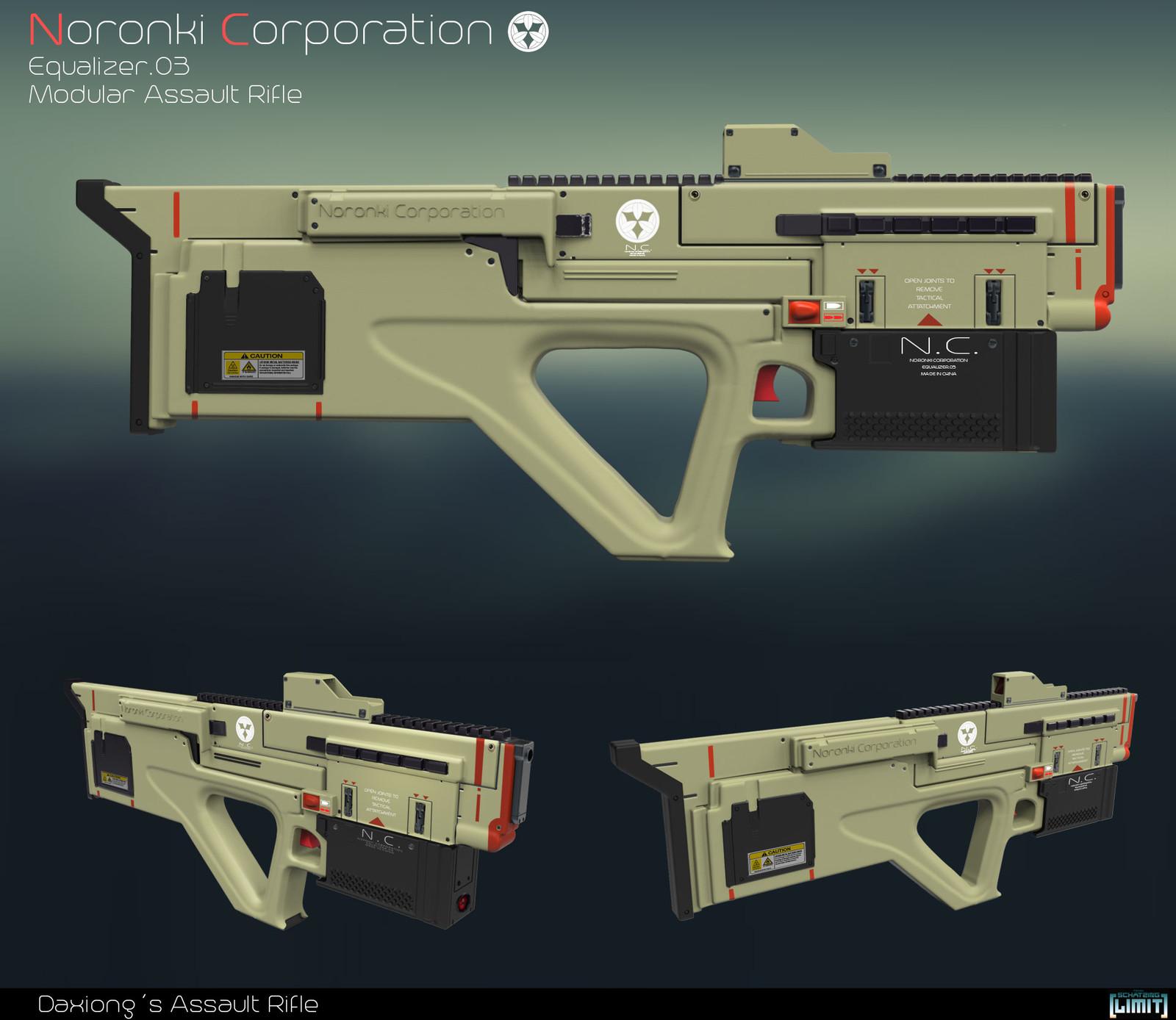 Ultralight plastic assalut rifle