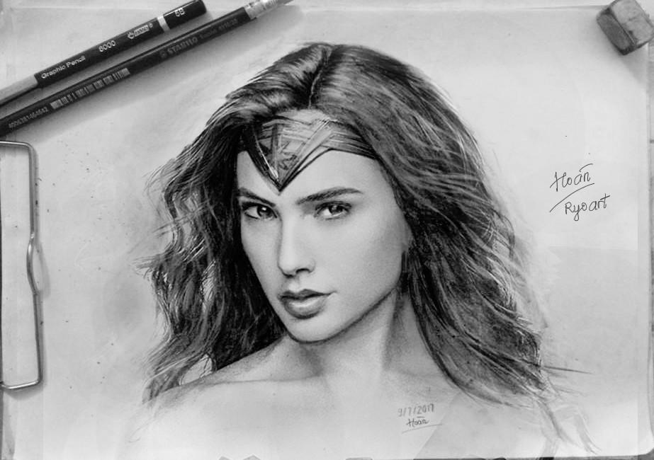 Artstation Wonder Women Drawing Hoan Vu