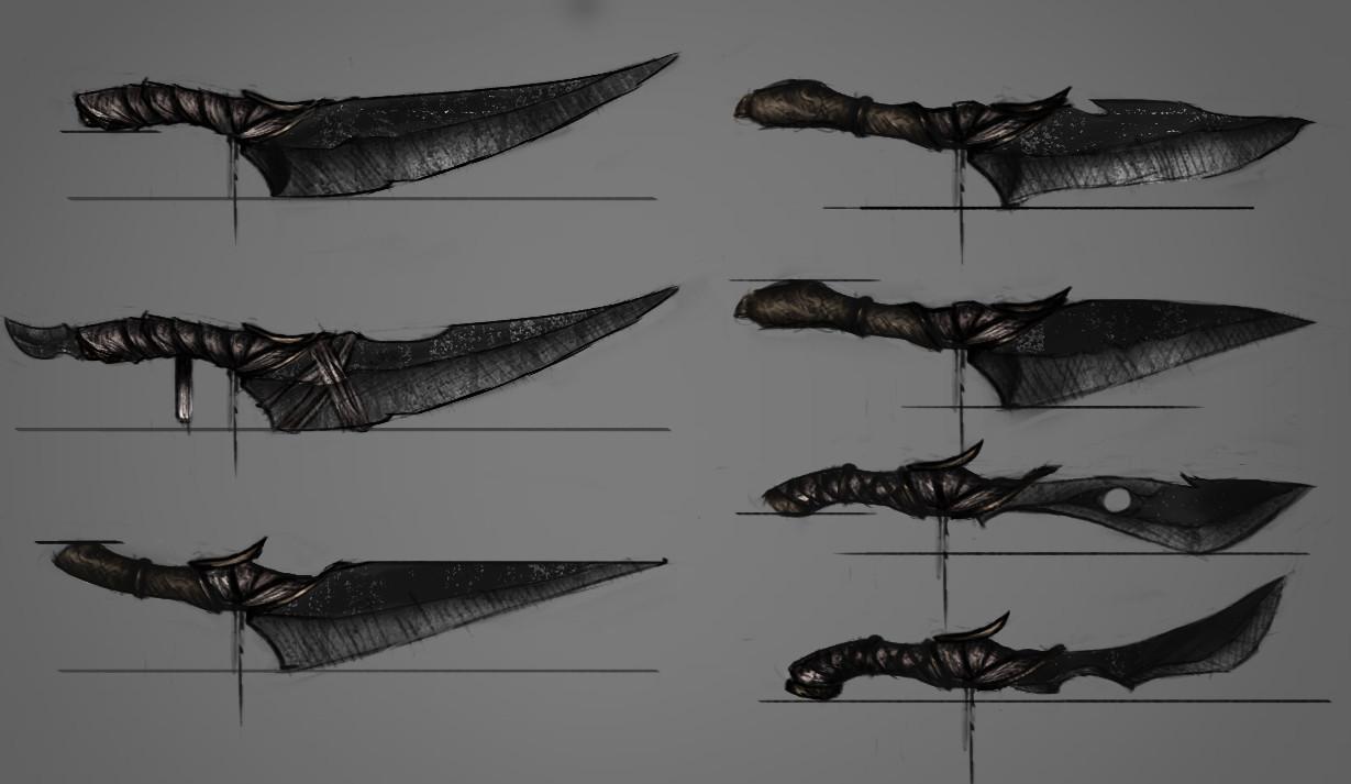 Kurtis knight concept art kuter knife