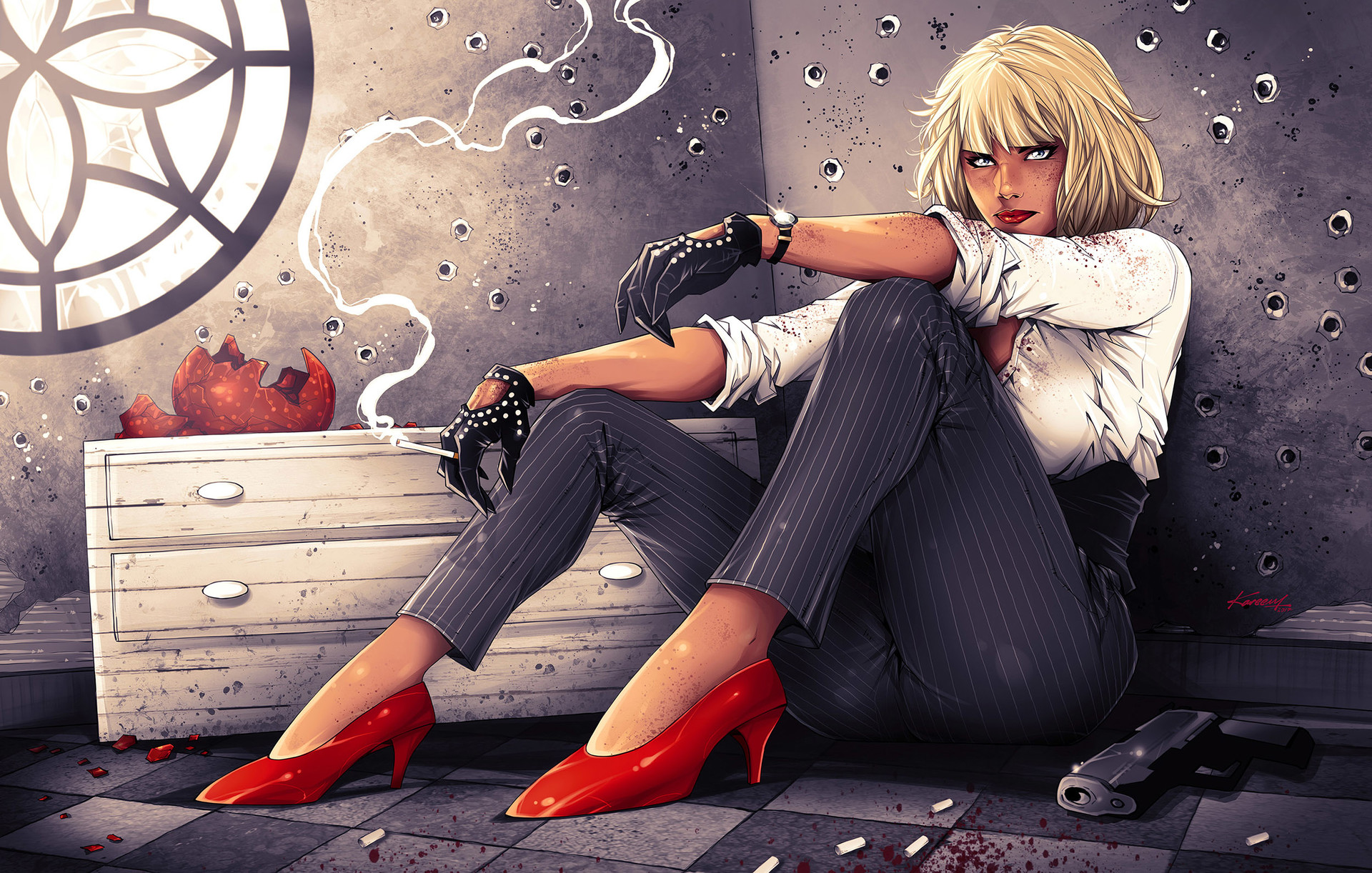 Not Today!.. Atomic Blonde Contest on Deviant Art.