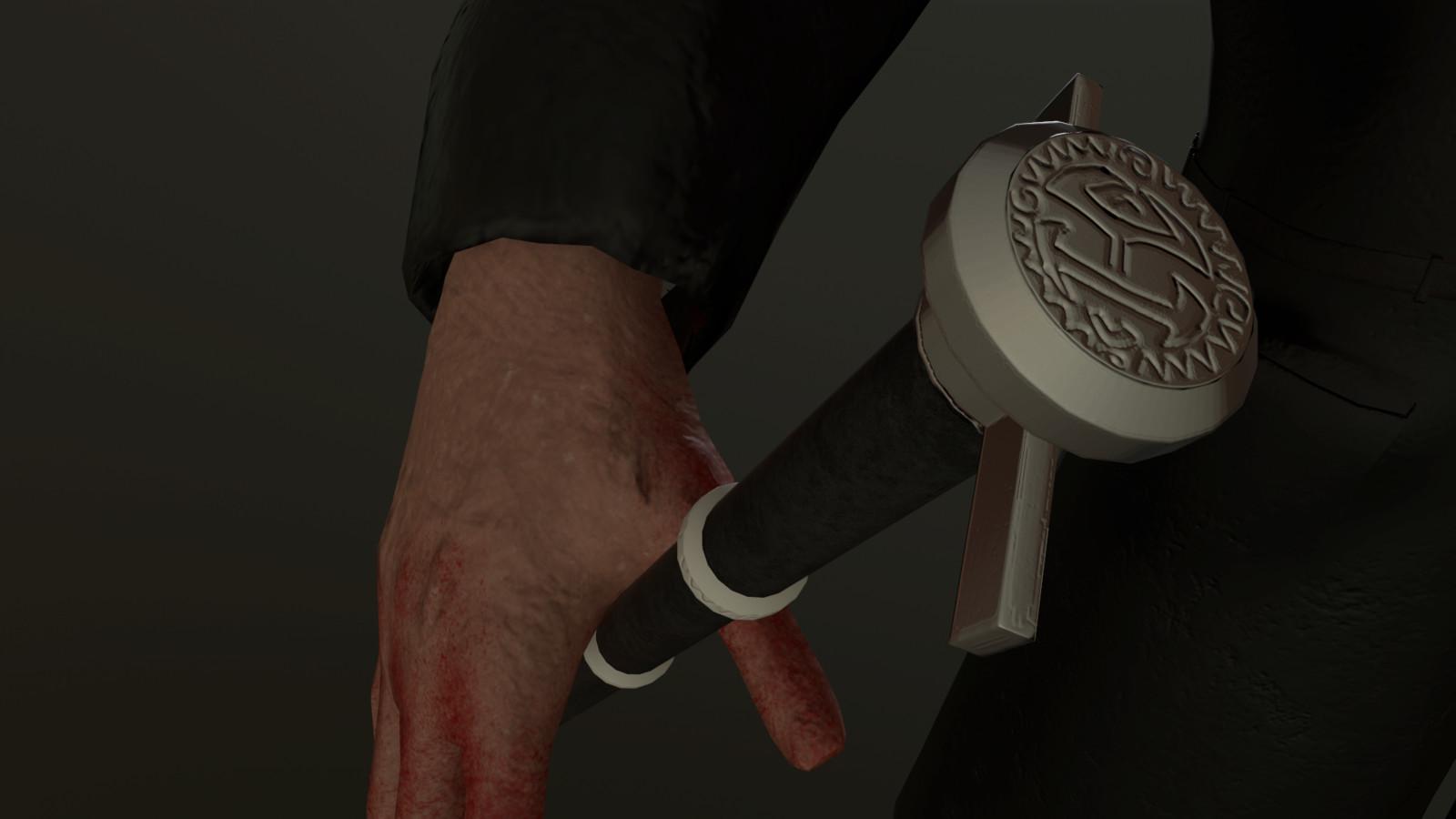 Cane Detail with Rapier Handle