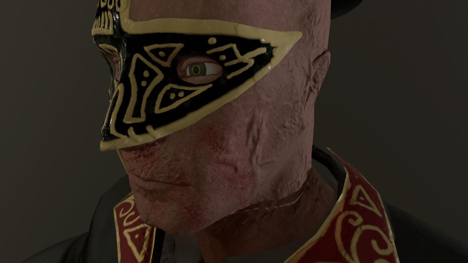 Face Detail & Masquerade Mask (Left Side)