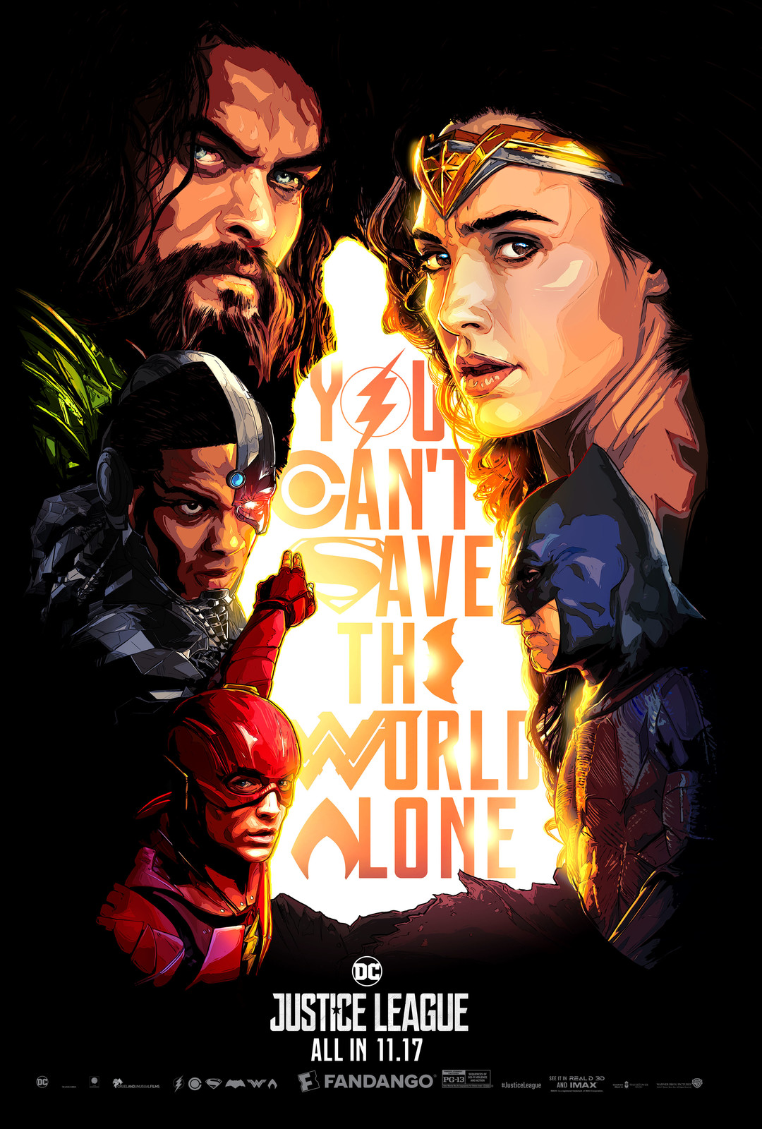 Justice League Fandango Specialty Poster