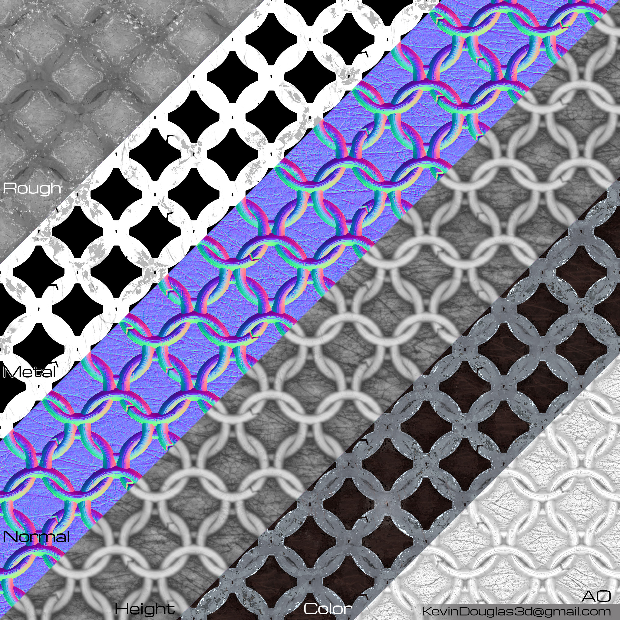 Ringmail Texture maps