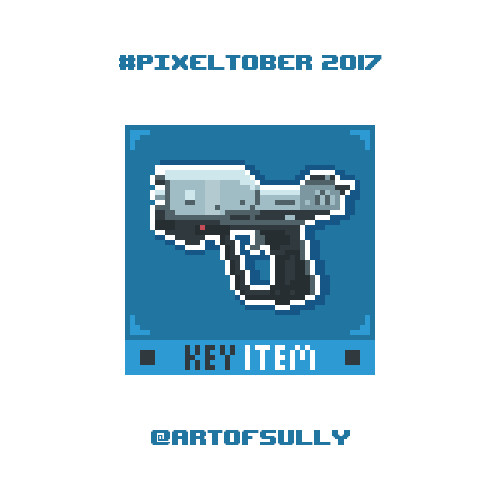 #pixeltober - Day 25 - 'Magnum Pistol (Halo)'