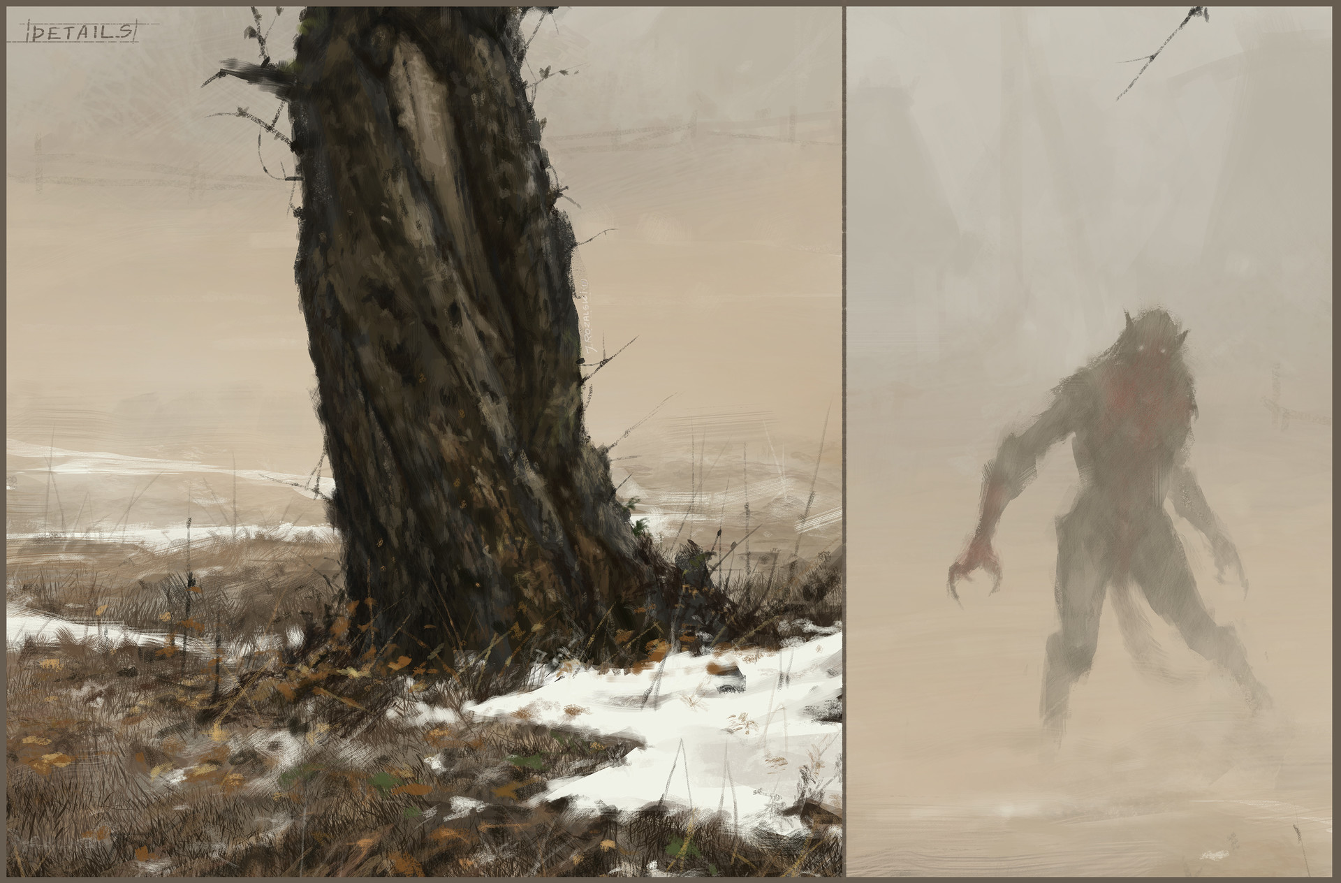 Jakub rozalski cat see everything 01process4