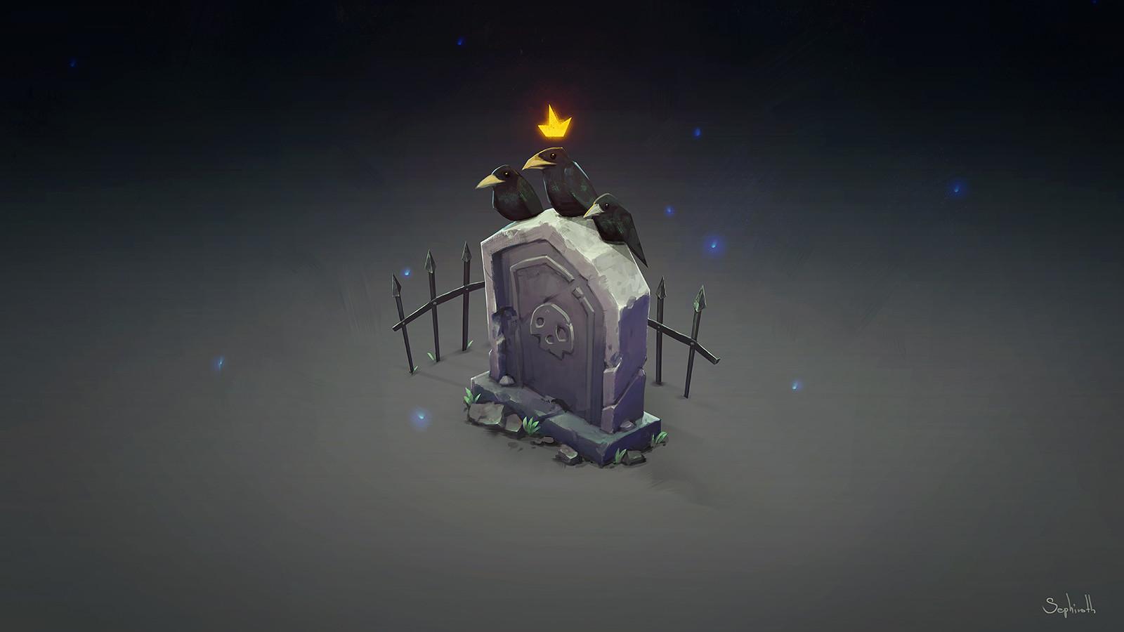 Sephiroth art raven king