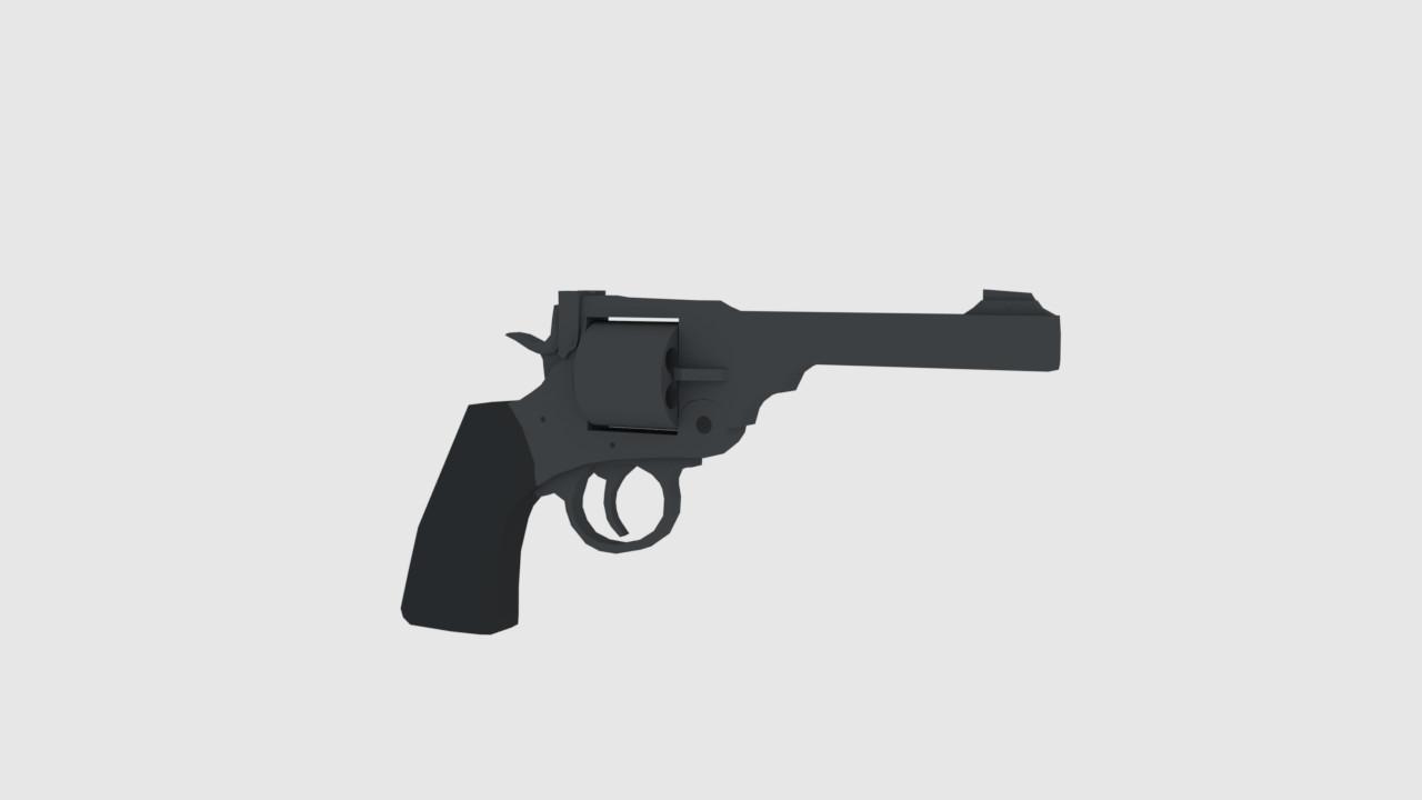 ArtStation - Webley Revolver  LowPoly, Weston Covey