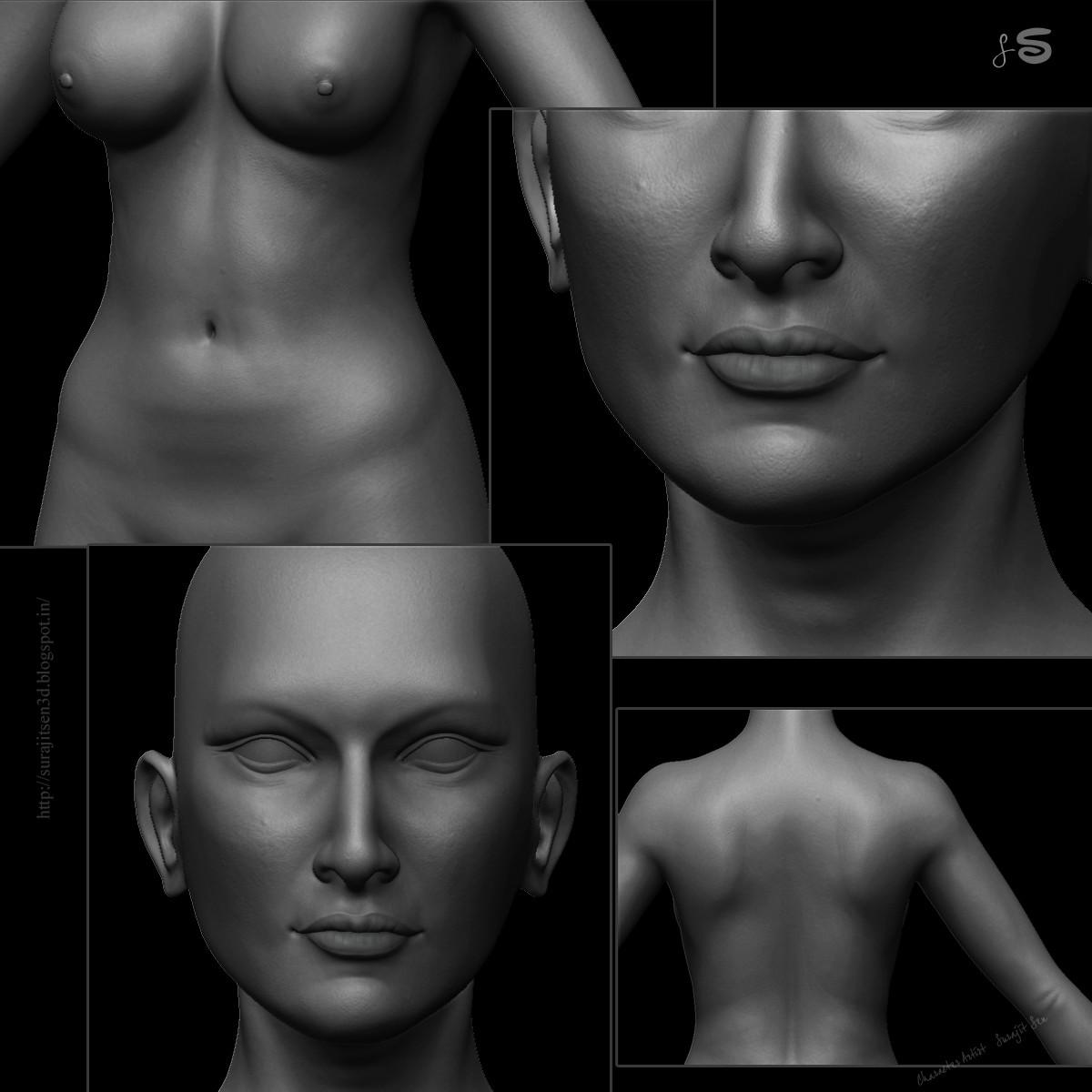 Surajit sen 9 female sculpt wip surajitsen 13102017