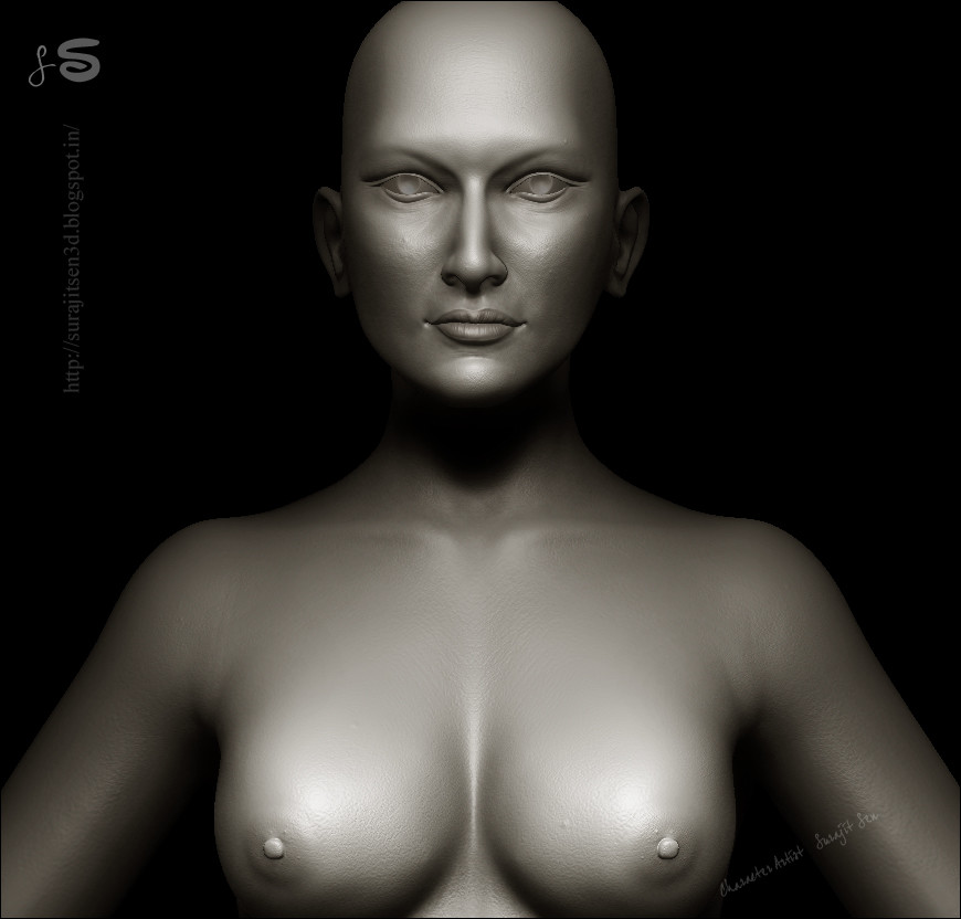 Surajit sen 13 female face breast sculpt surajitsen