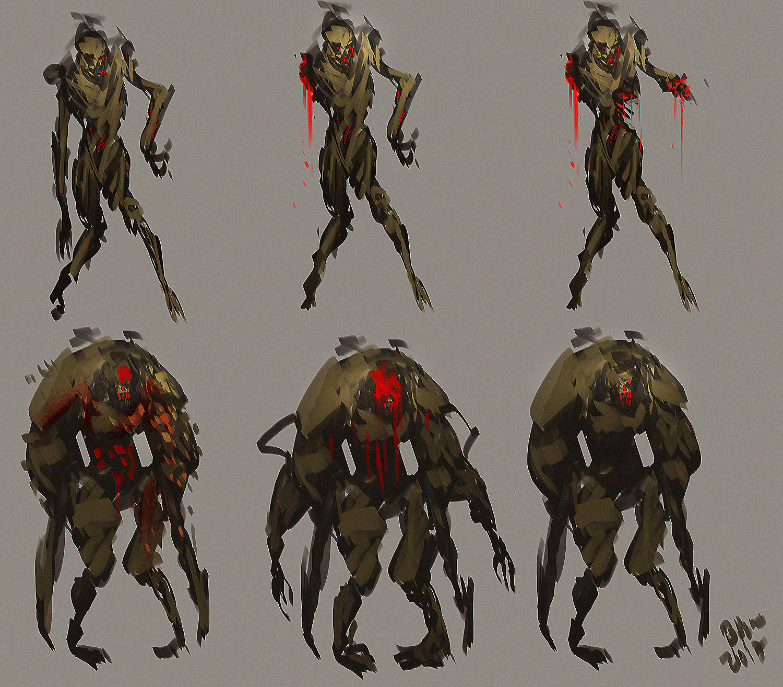 Benedick bana concept art creature freak004 lores