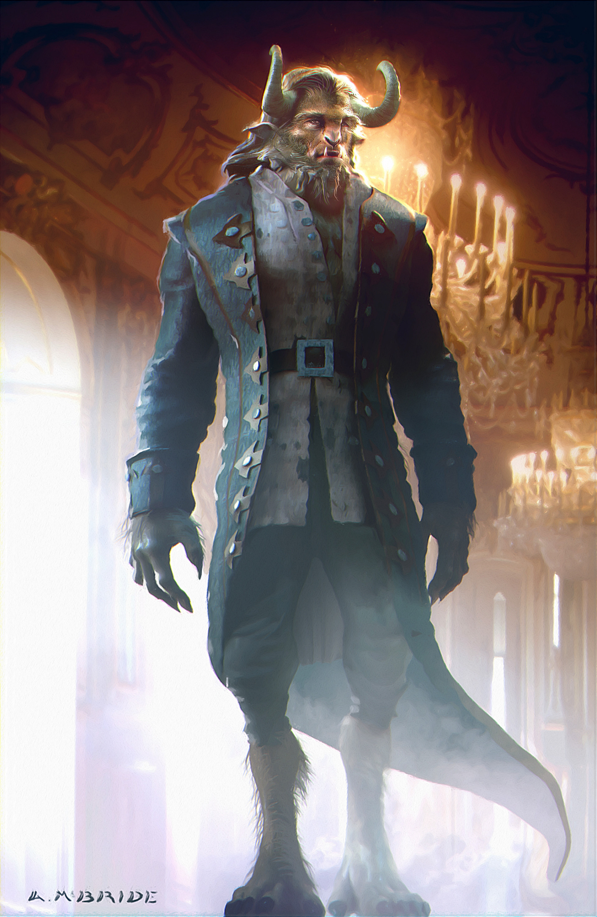 Aaron mcbride beauty and the beast concept amcb