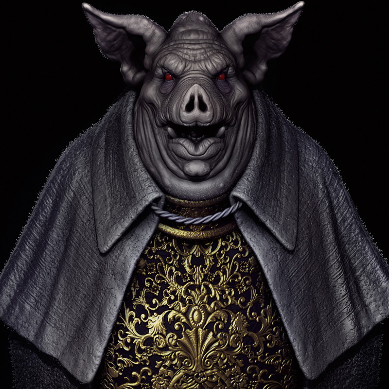 Pig Baron - Halloween Doodle