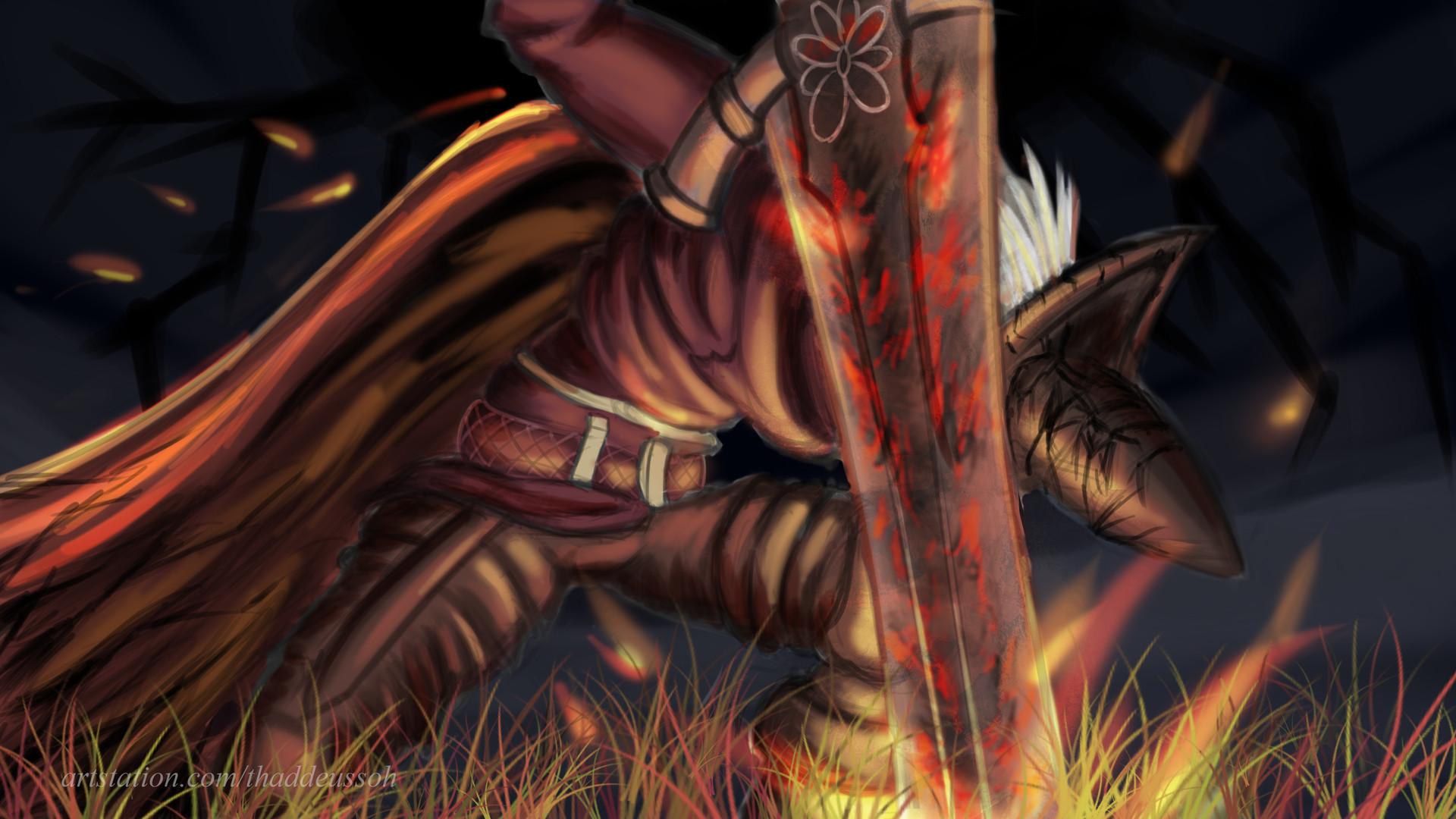 Artstation Dark Souls 3 Fanart Abyss Watchers Thaddeus Soh