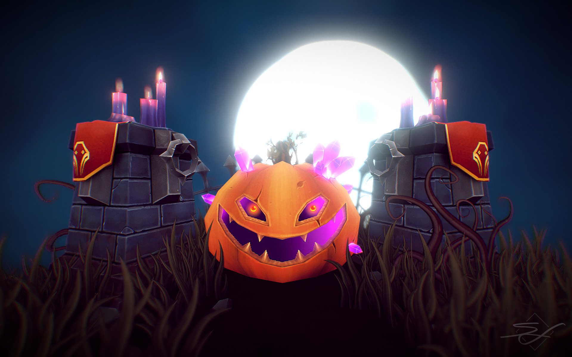 Sebastian irmer halloween rendering flat